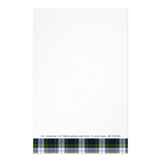 Stylish Gordon Dress Plaid Custom Stationery