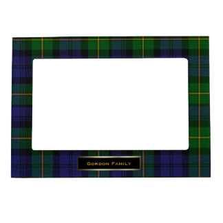 Stylish Gordon Family Tartan Plaid Custom Photo Frame Magnet