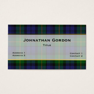 Stylish Gordon Plaid Custom Business Card