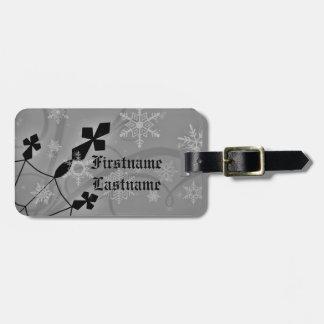 Stylish Gothic winter crossses and snowflakes Luggage Tag