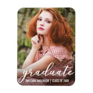 Stylish Graduation Photo Announcement Magnet