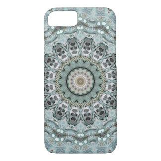 Stylish Gray and Aqua Mandala Case-Mate iPhone Case