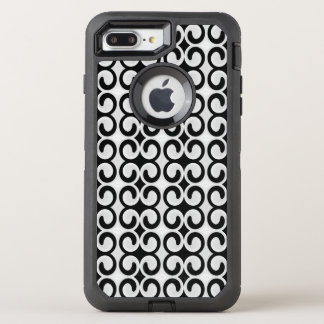 Stylish Gray and Black Pattern OtterBox Defender iPhone 7 Plus Case