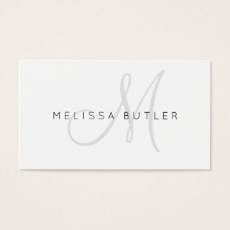 Stylish Gray Monogram Business Card