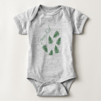 Stylish Green Kid Lucky Fern Baby Bodysuit