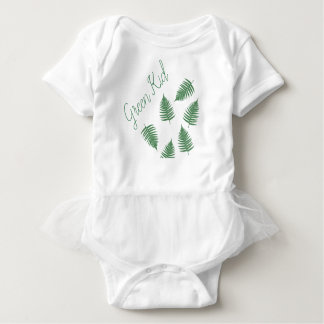Stylish Green Kid Lucky Fern Baby Skirt Bodysuit