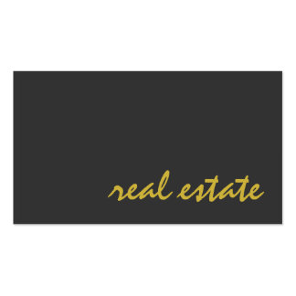 Stylish Grey Gold Color Script Agent Business Card