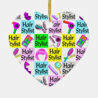 STYLISH HAIR STYLIST CHRISTMAS ORNAMENT