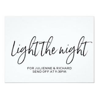 "Stylish Hand Lettered ""Light the Night"" Sign Card"