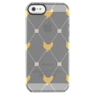 Stylish Harlequin Chicken Pattern Clear iPhone SE/5/5s Case