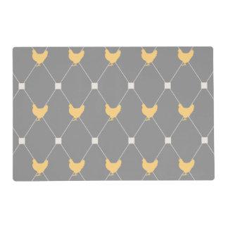 Stylish Harlequin Chicken Pattern Laminated Placemat