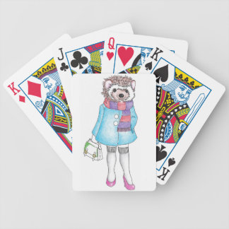 Stylish Hedgie Bicycle Playing Cards