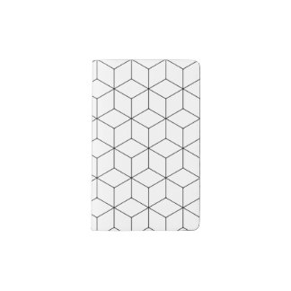 Stylish Hexagonal Cubes Notebook - Pocket