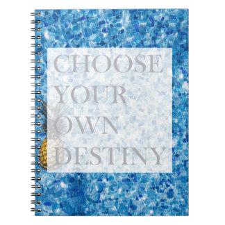 Stylish holiday beautiful quote notebook