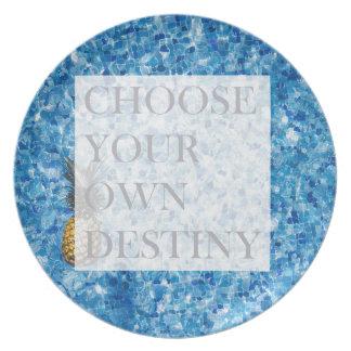 Stylish holiday beautiful quote plate