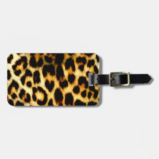 Stylish Holiday Christmas Wedding Leopard Pattern Luggage Tag