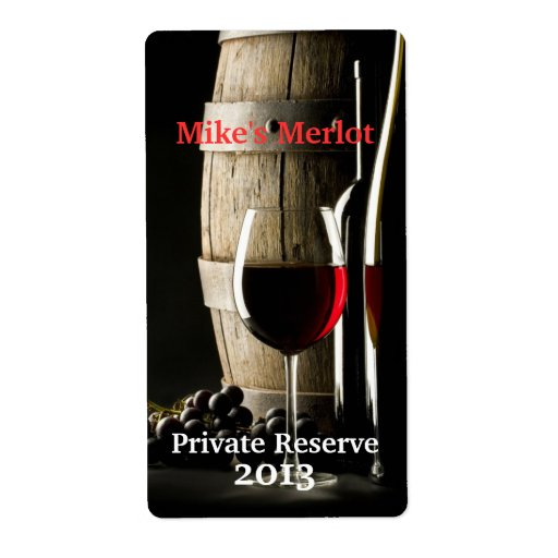 Stylish Home Made Wine Mini Labels