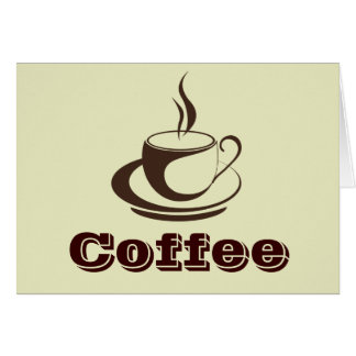Stylish Hot Coffee Note Cards