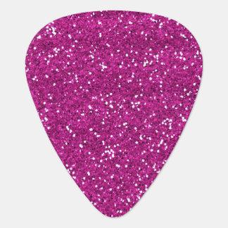 Stylish Hot Pink Glitter Pick