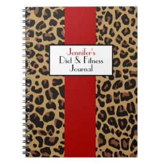 Stylish Jaguar Fur Pattern Custom Journal Notebook
