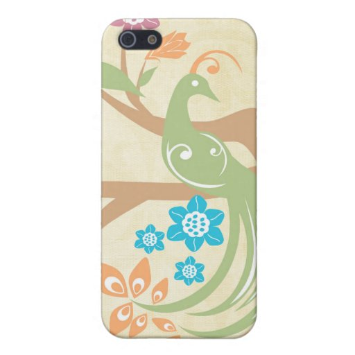 Stylish jewel toned floral peacock iphone 4 case