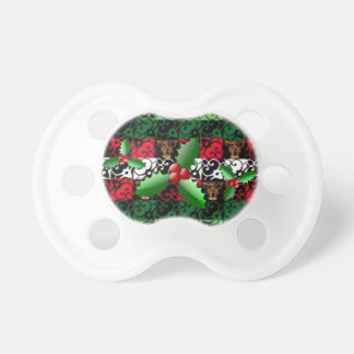 Stylish Joy and Jingle Ugly Sweater Pacifier