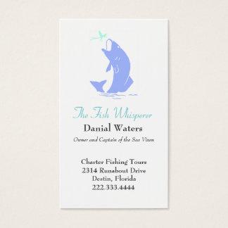 Stylish Jumping Fish Fishing Business Card