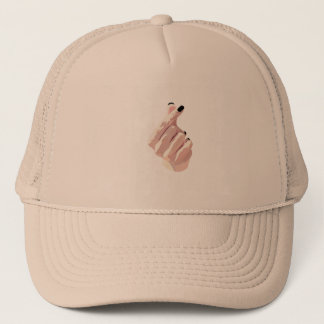 Stylish Korean Inspired Finger-Heart Cap in Khaki