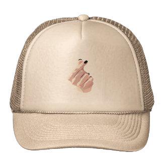 Stylish Korean Inspired Finger-Heart Cap in Khaki Trucker Hat
