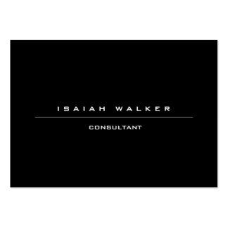 Stylish Large Plain Unique Special Black & White Large Business Card