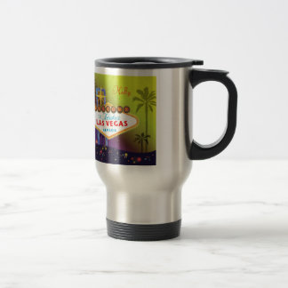 Stylish Las Vegas Sign Customizable Name Travel Mug