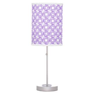Stylish Lavendar Swirl Vortex Pattern Table Lamp