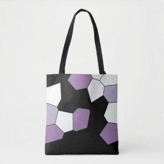 Stylish Lavender Purple Black White Pattern Tote Bag