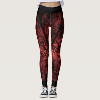 Stylish Leggings with a Digital Image 'Red Forest'