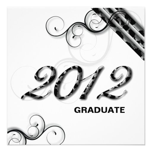 Stylish Leopard 2012 Grad Announcement Invitation