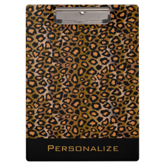 Stylish Leopard Animal Print Clipboards