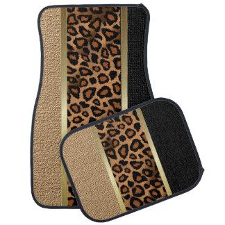 Stylish Leopard Animal Print Pattern | Tan Car Carpet