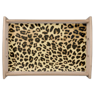 Stylish Leopard Animal Print Serving Tray