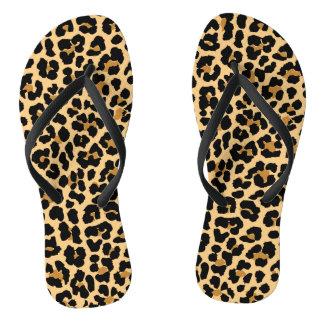 Stylish Leopard Pattern Flip Flops