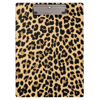 Stylish Leopard Print Clipboard