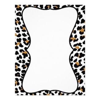 Stylish Leopard Print Letterhead