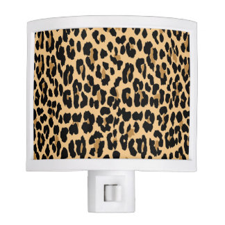 Stylish Leopard Print Pattern Night Light