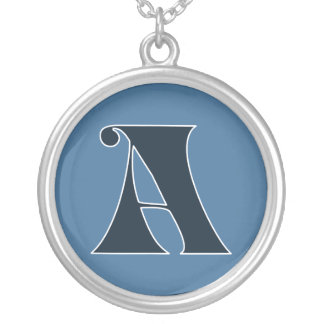 Stylish letter, initial, monogram A Round Pendant Necklace