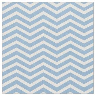 Stylish Light Blue and White Chevron Pattern Fabric