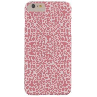 Stylish Light Pink Leopard Print Animal Pattern Barely There iPhone 6 Plus Case