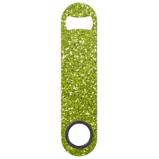 Stylish Lime Green Glitter Bar Key