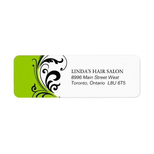 Stylish Lime Green Return Address Label