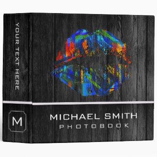 Stylish Lips Photo Books Wood Look #21 Binder
