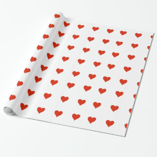 Stylish Little Red Hearts Wrapping Paper