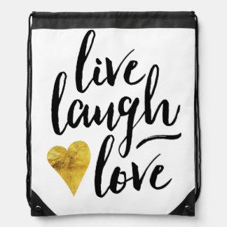 Stylish Live, Laugh, Love Bag Backpack